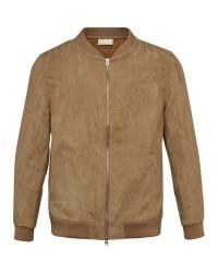 Knowledge Cotton Apparel Suede Jacket - GRS (Lysebrun, XLARGE)