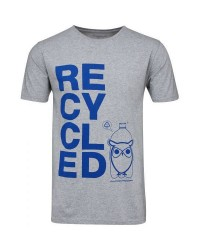 Knowledge Cotton Apparel T-shirt recycle 10380 (GRÅ, LARGE)
