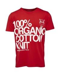 Knowledge Cotton Apparel T-shirt W/cotton print 10381 (RØD, MEDIUM)