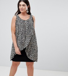 Koko Animal Print Wrap Front Dress - Multi