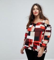Koko Block Print Bardot Blouse - Multi