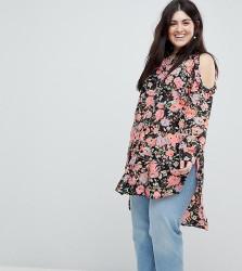Koko Cold Shoulder Floral Shirt - Multi