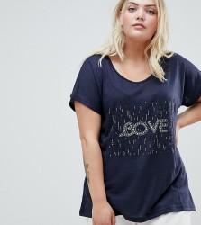 Koko Embellished T-Shirt - Navy