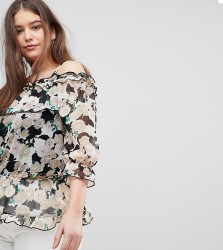 Koko Floral Bardot Blouse - Multi
