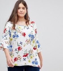 Koko Floral Bell Sleeve Blouse - Multi