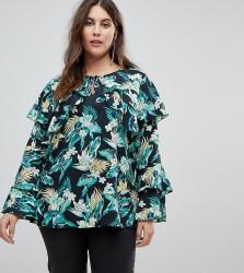 Koko Floral Print Blouse With Long Sleeves - Multi
