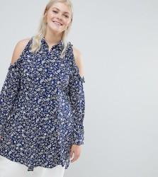 Koko Paisley Cold Shoulder Shirt - Multi