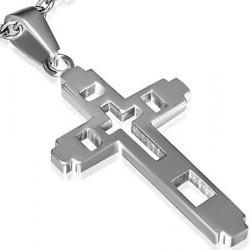 Kors Vedhæng i stål - 42mm - u/kæde