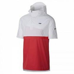 Kortærmet Nike F.C.-fodboldjakke med hætte til mænd - White