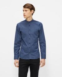 Kronstadt Dean Flannel Mandarin langærmet skjorte