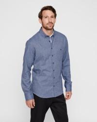 Kronstadt Dean Herringbone langærmet skjorte