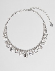 Krystal London Swarovski Crystal Multi gem Drop Necklace - Clear