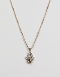 Krystal London Swarovski Crystal Overlap Necklace - Clear