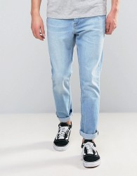 Kubban 90's Tapered Fit Bleach Jean - Blue