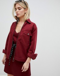 Kubban Boxy Denim Jacket - Red