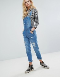Kubban Distressed Dungarees - Blue