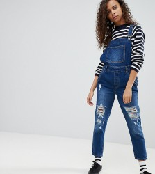 Kubban Petite Core Denim Dungarees - Blue