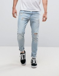 Kubban Skinny Fit Jeans in Light Wash - Blue
