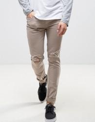 Kubban Skinny Jeans in Shitake - Brown