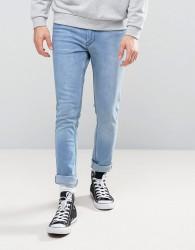 Kubban Spray On Blue Wash Jeans - Blue