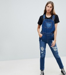 Kubban Tall Core Denim Dungarees - Blue