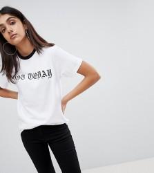 Kubban Tall Not Today Print T-Shirt - White