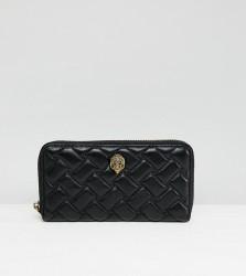 Kurt Geiger Kensington leather quilted zip around purse - Black