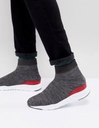 Kurt Geiger London Knitted Flexor Trainer In Grey - Grey