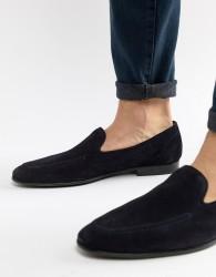 Kurt Geiger London Palermo loafers in navy suede - Navy