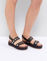Kurt Geiger Makenna Flatform Sandals - Black