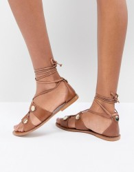 Kurt Geiger Marci leather gladiator sandals - Tan