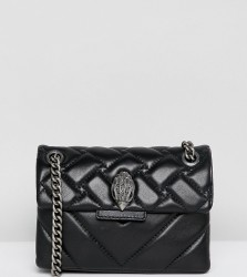 Kurt Geiger Mini Kensington black leather cross body bag with chain - Black