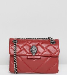 Kurt Geiger Mini Kensington red leather cross body bag with chain - Red