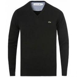 Lacoste Cotton Pullover V-Neck Black