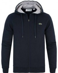 Lacoste Full Zip Hoodie Sweatshirt Marine men 6 - XL Blå