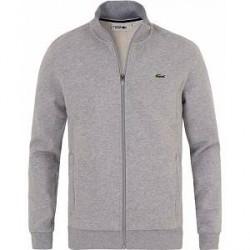 Lacoste Zip Trough Sweatshirt Argent Chine