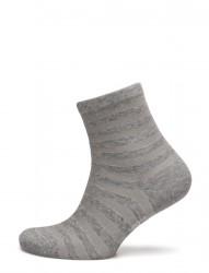 Ladies Anklesock, Cotton Shiny Stripe