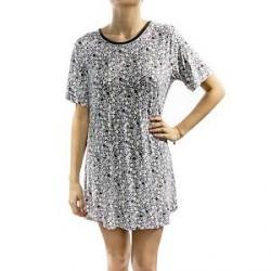 Lady Avenue Soft Bamboo Big Shirt - Pattern-2 - Medium