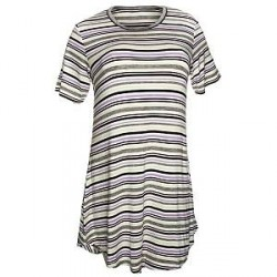 Lady Avenue Soft Bamboo Big Shirt - Striped-2 * Kampagne *