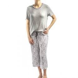 Lady Avenue Soft Bamboo Pyjamas - Pattern-2 - Small