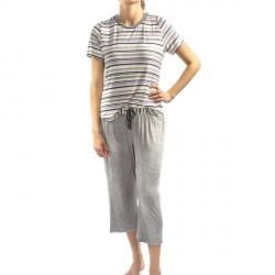 Lady Avenue Soft Bamboo Pyjamas - Striped-2 * Kampagne *