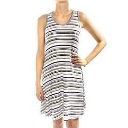 Lady Avenue Soft Bamboo Short Nightdress - Striped-2 - X-Large