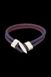 Læderarmbånd, flettet