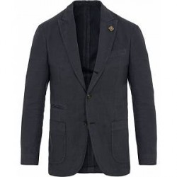 Lardini Cotton Structure Blazer Dark Blue