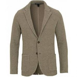 Lardini Cotton/Linen Knitted Blazer Green