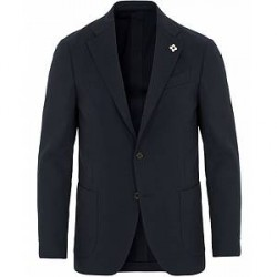 Lardini Travel Cotton Blazer Navy