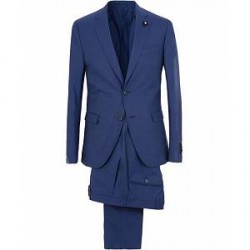 Lardini Wool Suit Blue
