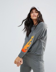 Lasula Flame Sweatshirt - Grey