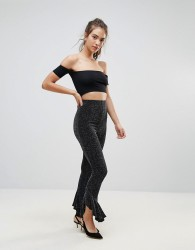 Lasula Frill Bottom Trousers - Black