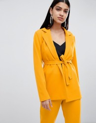 Lasula longline blazer in yellow - Yellow